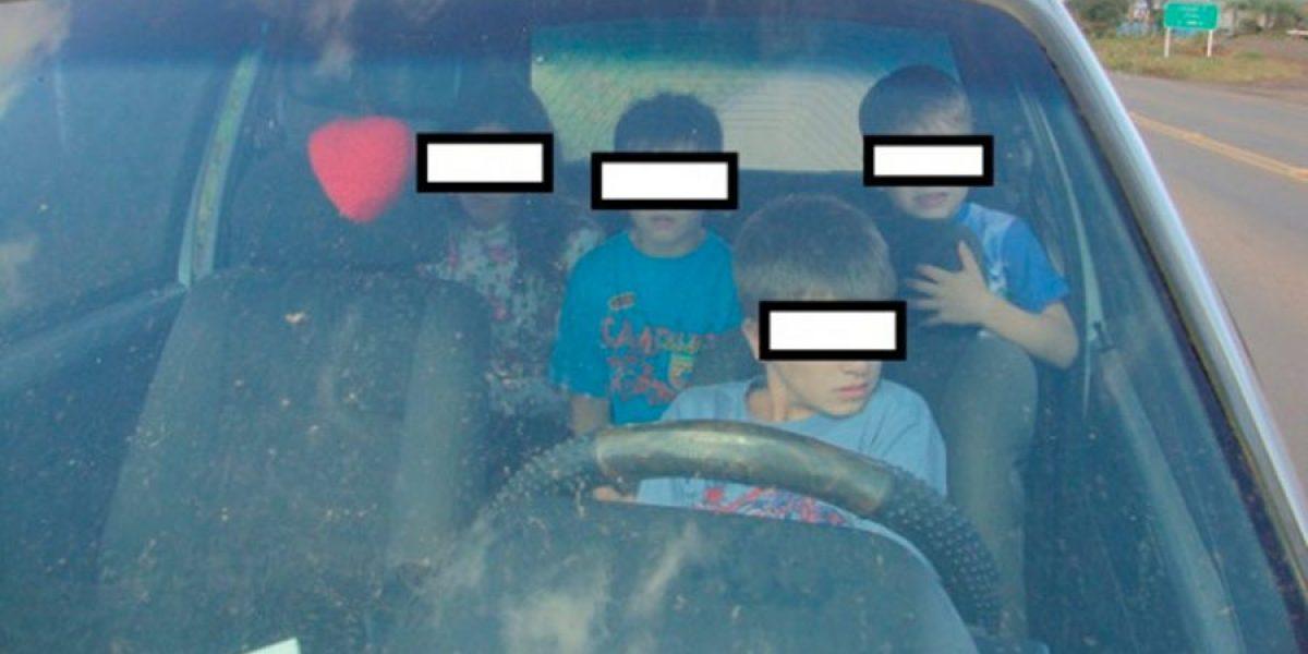PRF flagra menino de 11 anos ao volante em Santa Catarina