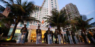 exército-hotel-protesto-rio-de-janeiro-barra-da-tijuca-leilão-campo-de-libra-Sérgio-Moraes-Reiters