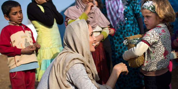 A atriz é embaixadora da boa vontade do Alto Comissariado das Nações Unidas para os Refugiados | A.McConell / Reuters