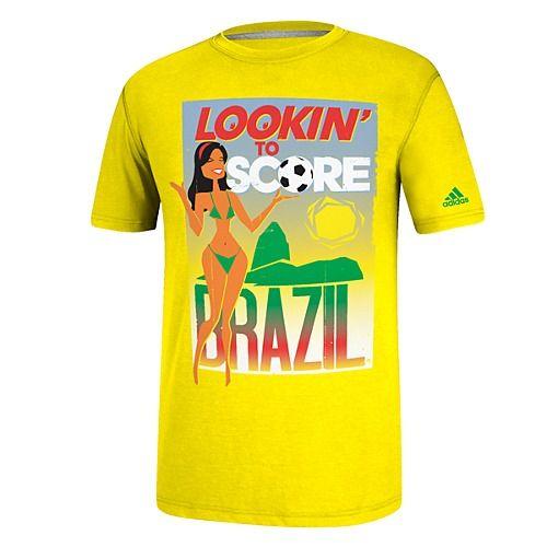 Camisa fabricada pela Adidas com duplo sentido: