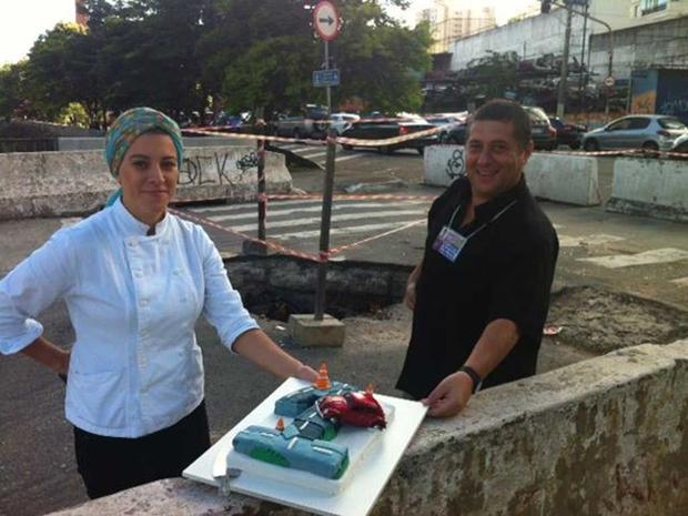 Mariana e Sérgio participam do aniversário / Michelle Trombelli/BandNews FM