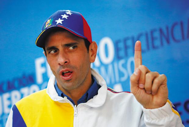 Líder da oposição, Henrique Capriles é moderado | Marco Bello/Reuters