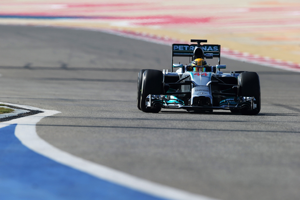Hamilton voltou a mostrar o poderio da Mercedes nos testes | Mark Thompson/Getty Images