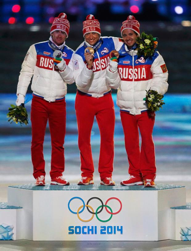 Russos comandaram pódio do esqui cross-country masculino nesse domingo | Phil Noble/Reuters
