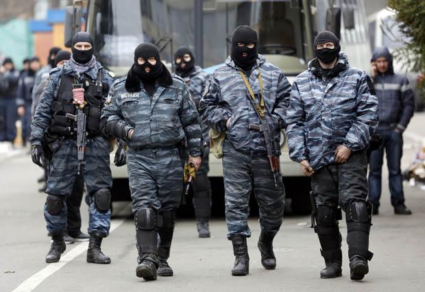 As forças Berkut lideraram a repressão das manifestações da oposição em Kiev | Yannis Behrakis / Reuters
