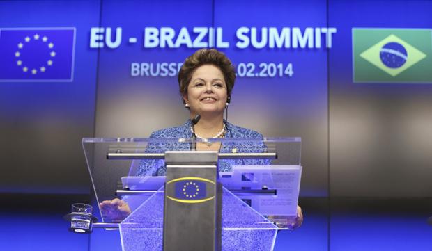 A presidente Dilma na reunião de cúpula entre Brasil e União Europeia | Francois Lenoir / Reuters