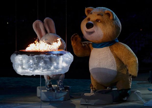 Urso é o mascote das Olímpiadas de Sochi 2014 | Gary Hershorn/Reuters