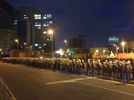 O policiamento foi bastante reforçado na região do largo da Batata, onde a manifestação teve início | Reprodução/Facebook