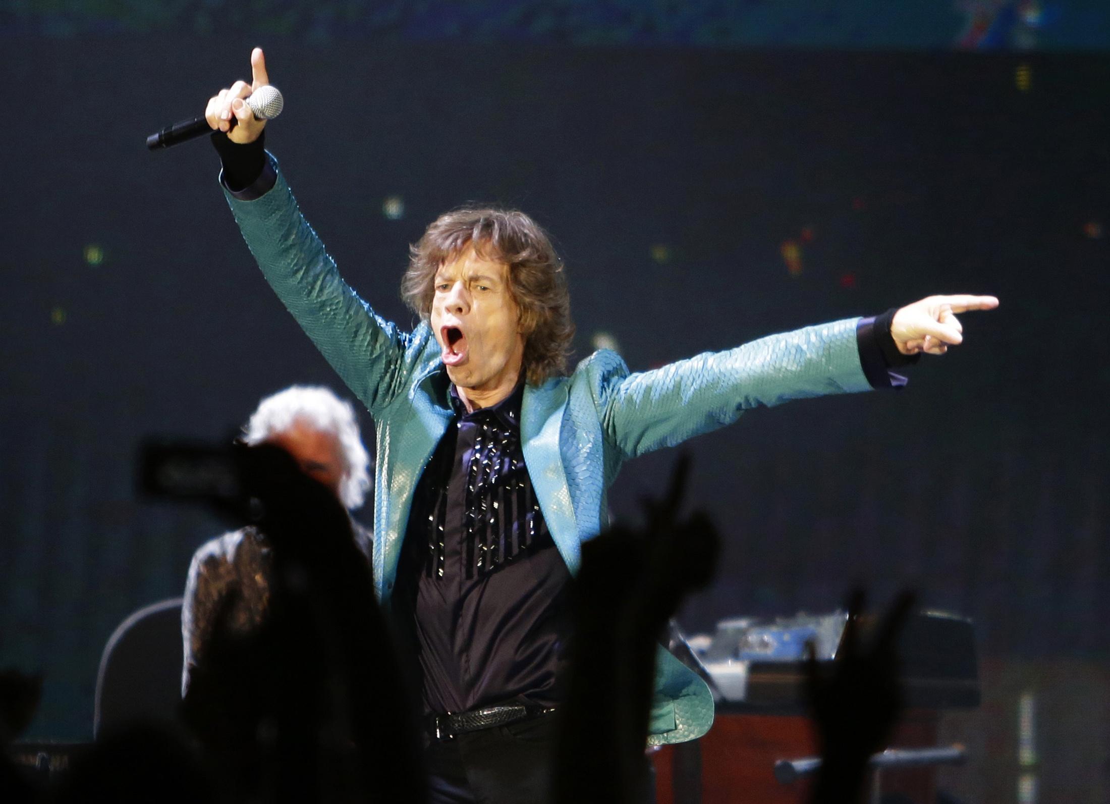 Mick Jagger, vocalista dos Rolling Stones, durante show ocorrido em Singapura, no último dia 15 de março | Tim Chong/Reuters
