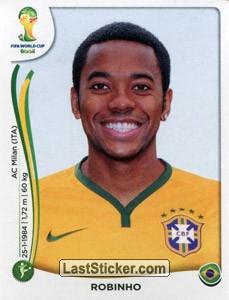 Esquecido por Felipão nas últimas convocações, Robinho está no álbum da Copa | Reprodução