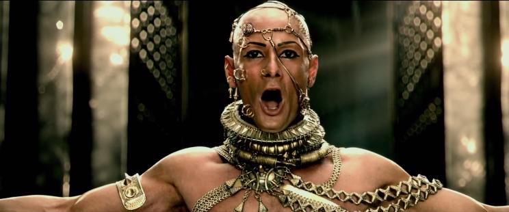 O ator brasileiro Rodrigo Santoro encarna novamente o personagem Xerxes | Reprodução