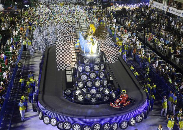 Unidos da Tijuca homenageou Ayrton Senna / Ricardo Moraes / Reuters