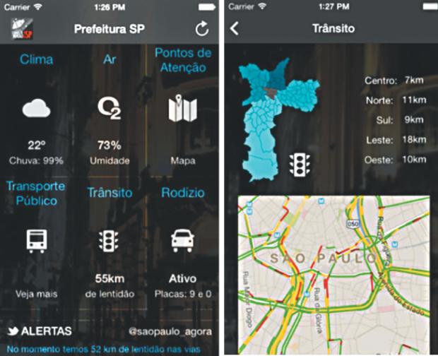 Aplicativo monitora trânsito durante tempestades | Reprodução/Prefeitura