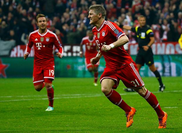 O volante alemão Bastian Schweinsteiger marcou o gol do Bayern de Munique | Kai Pfaffenbach/Reuters
