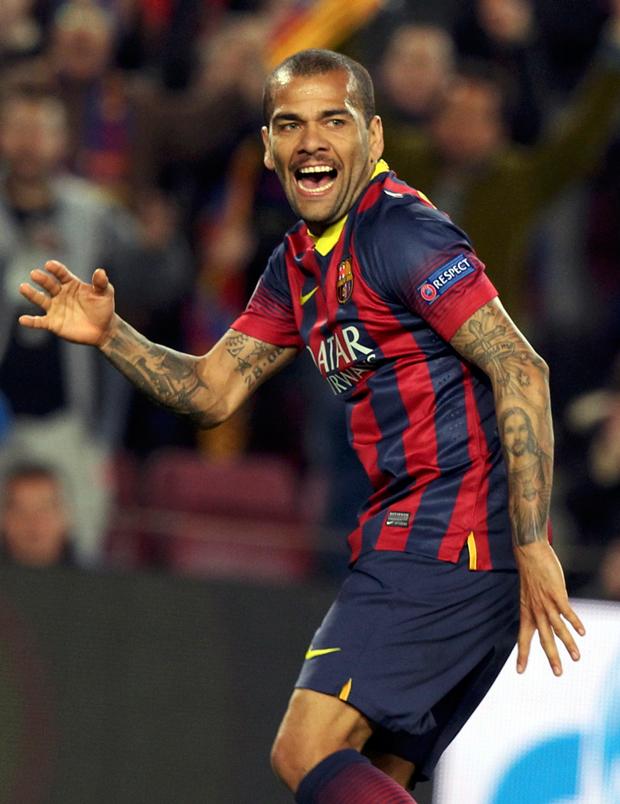 Daniel Alves garantiu a vitória do Barça já nos acréscimos | Gustau Nacarino/Reuters