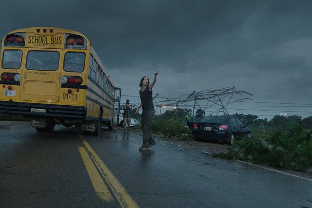 "Cena do filme ""No Olho do Tornado"" (Into the Storm, EUA, 2014) 