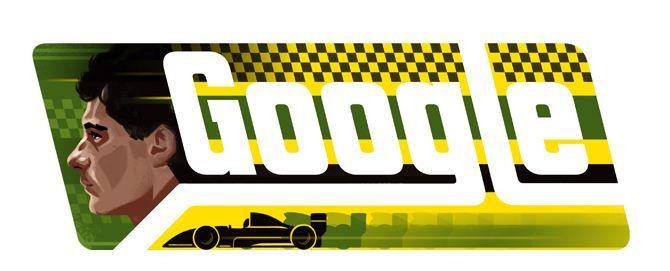 Doodle em homenagem à Ayrton Senna / Reprodução Google
