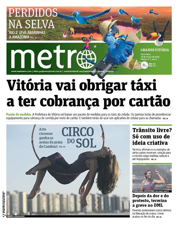 Metro é lançado em Vitória nesta sexta-feira | Metro
