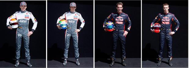 Adrian Sutil e Steban Gutierrez (Sauber) - Jean-Eric Vergne e Danil Kvyat (Toro Rosso) | Brandon Malone/Reuters