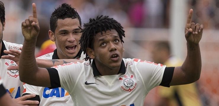Romarinho marcou os três gols corintianos da tarde | Daniel Augusto Jr/Ag. Corinthians
