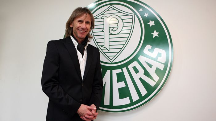 Gareca fez questão de elogiar a agremiação e agradecer pela chance de dirigir a equipe paulista | Fabio Menotti/Ag Palmeiras