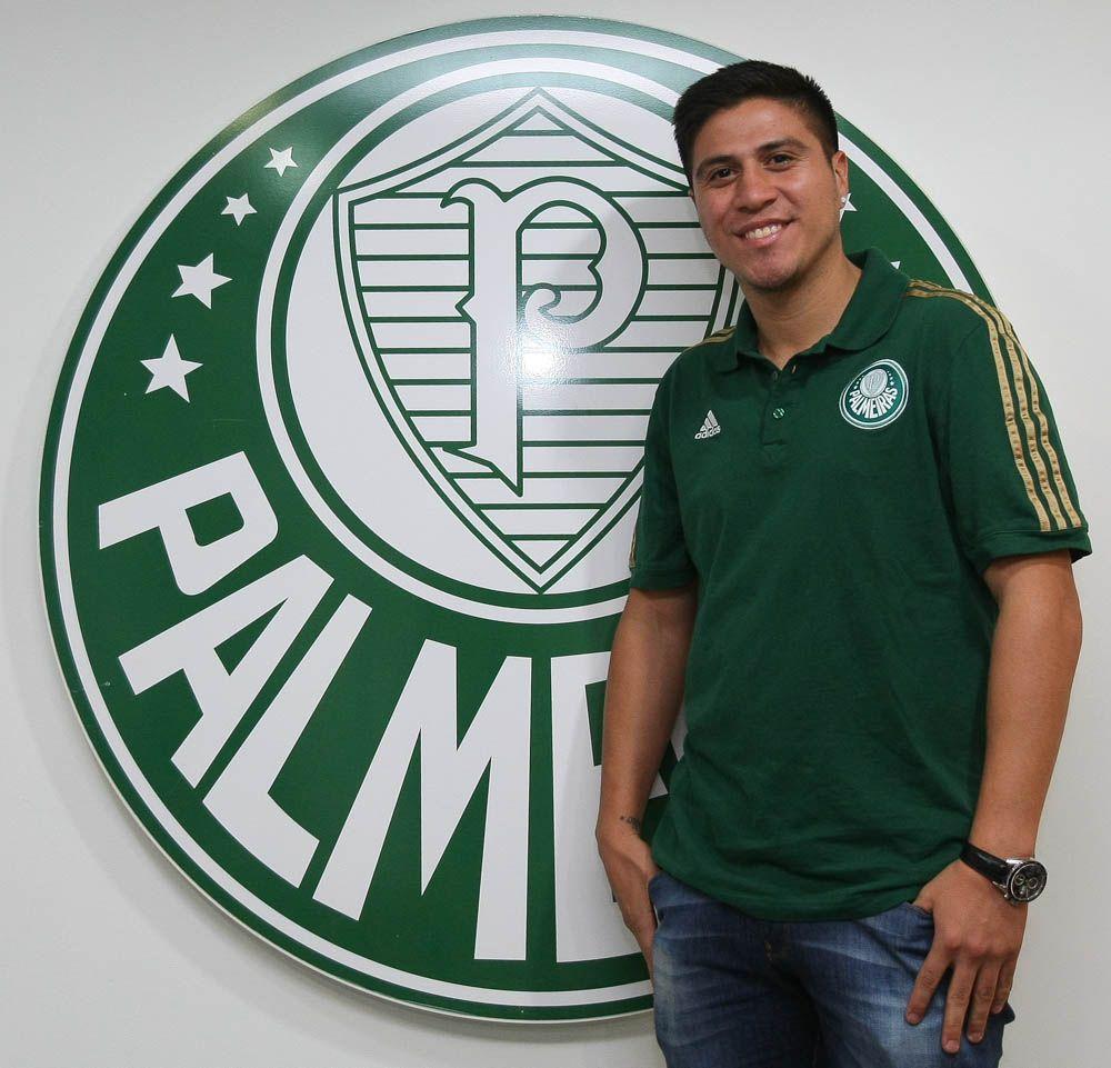 Cristaldo foi confirmado como novo reforço palmeirense / Cesar Greco/Site Palmeiras