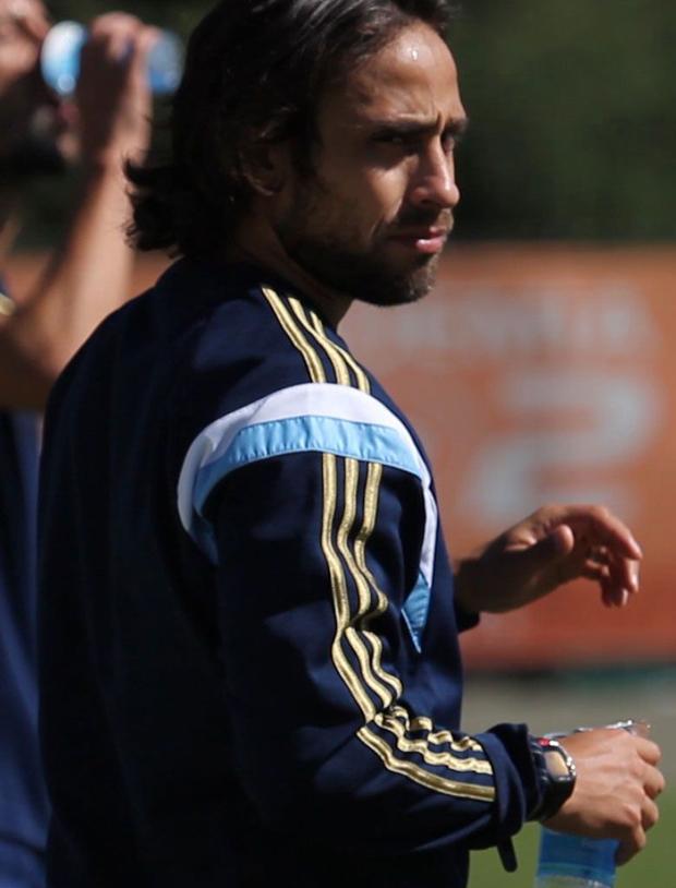 Valdivia voltou a treinar hoje na Academia de Futebol | Divulgação/Site Palmeiras