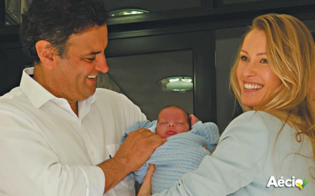 Filho de dois meses de Aécio recebeu alta da maternidade | Divulgacão