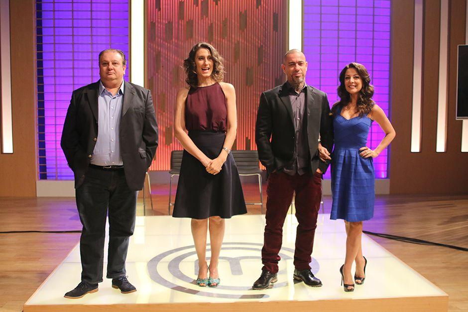 Ana Paula Padrão e os jurados do MasterChef / Rodrigo Belentani/Band