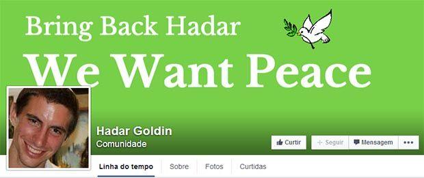 Capa da página do Facebook que pede a libertação de Goldin