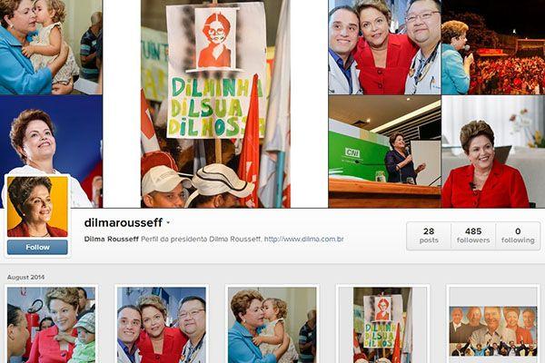 Dilma Rousseff lançou seu perfil no Instagram   Reprodução
