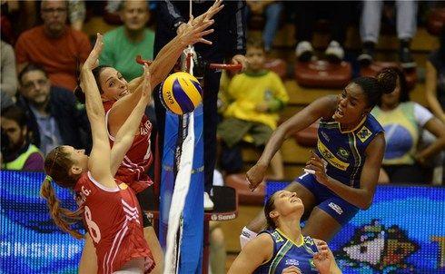 Brasileiras venceram no tie-break / FIVB