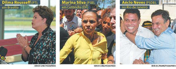 Dilma Rousseff Marina Silva Aecio Neves Campanha eleições