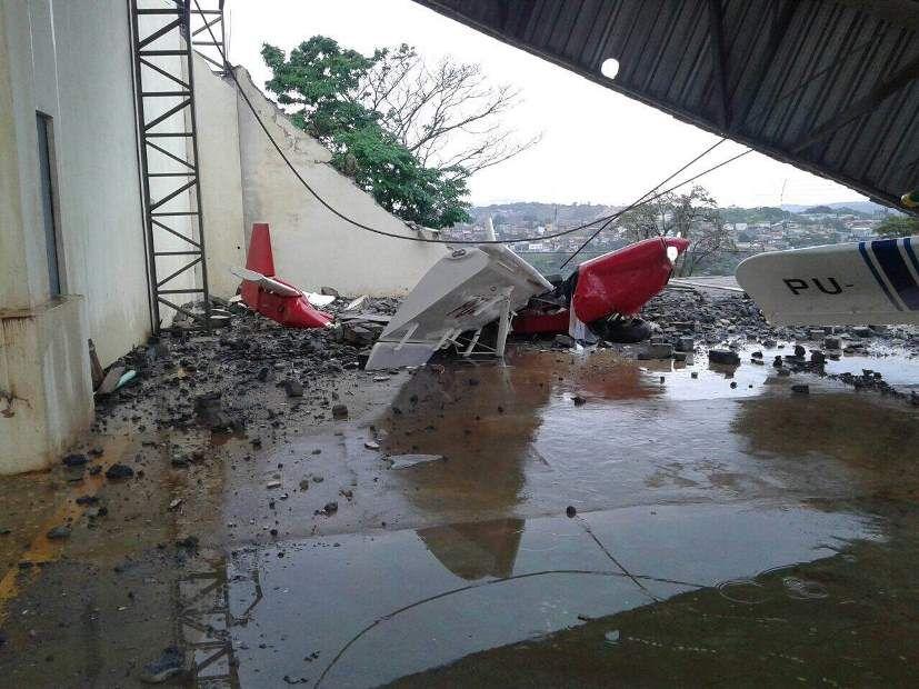 Ventania danifica aviões no Aeroporto de Atibaia - Rádio Bandeirantes