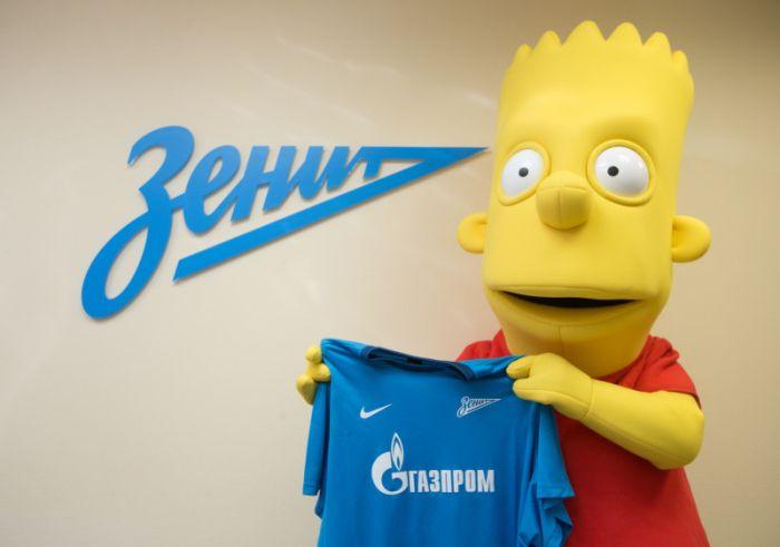 Bart Simpson será um dos mascotes do Zenit / Divulgação/Zenit