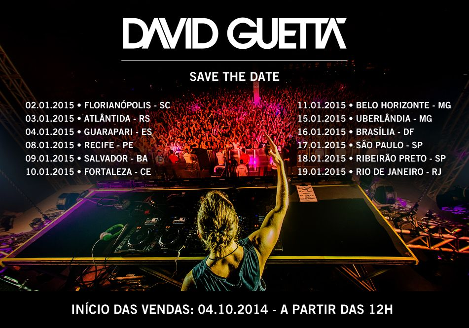 Shows do David Guetta no Brasil