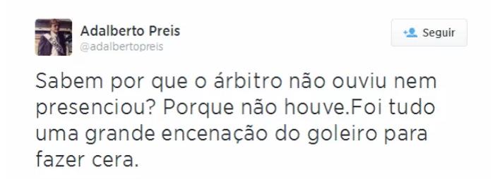 vice presidente gremio adalberto preis reproducao twitter