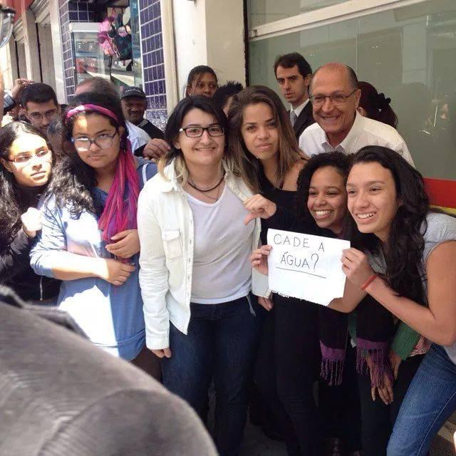 Alunas compartilharam foto em protesto contra Geraldo Alckmin | Reprodução/Facebook