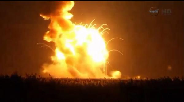 Momento da explosão do foguete | Reuters