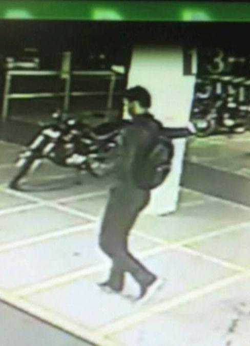 Imagens de câmeras de segurança ajudaram a polícia a localizar suspeito | Reprodução/Band