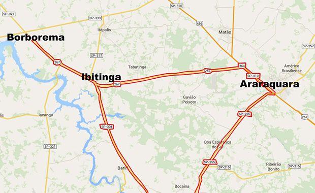 Mapa acidente estudantes
