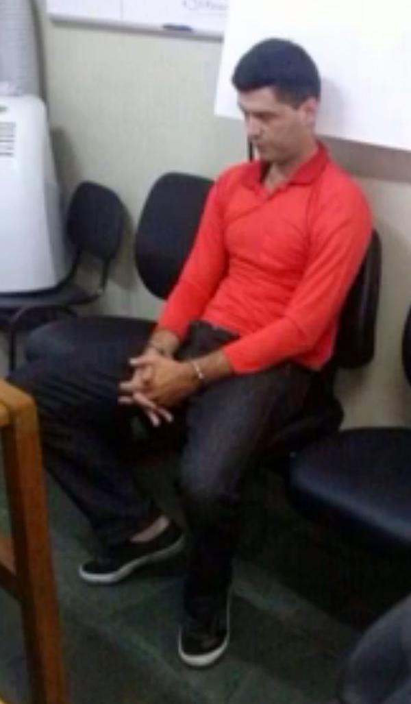 O suspeito Thiago já preso | Reprodução de TV