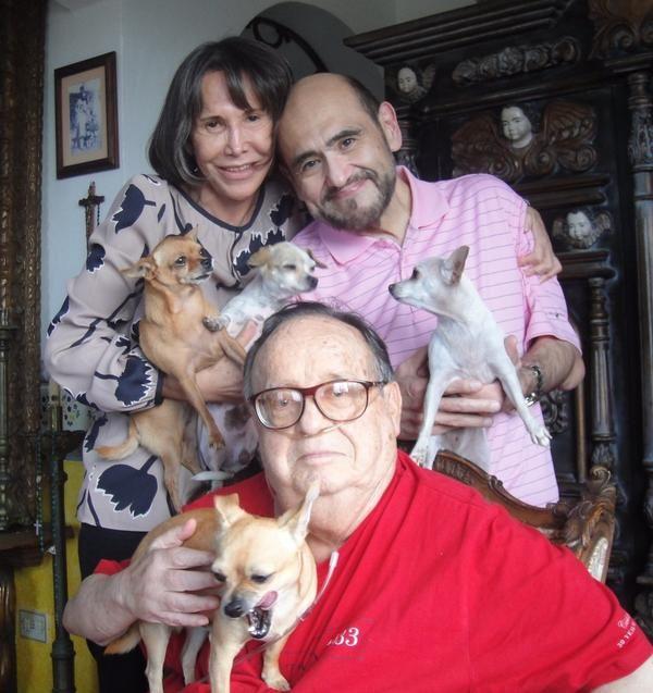 Florinda Meza, Edgar Vivar e Roberto Bolaños   Divulgação/Twitter