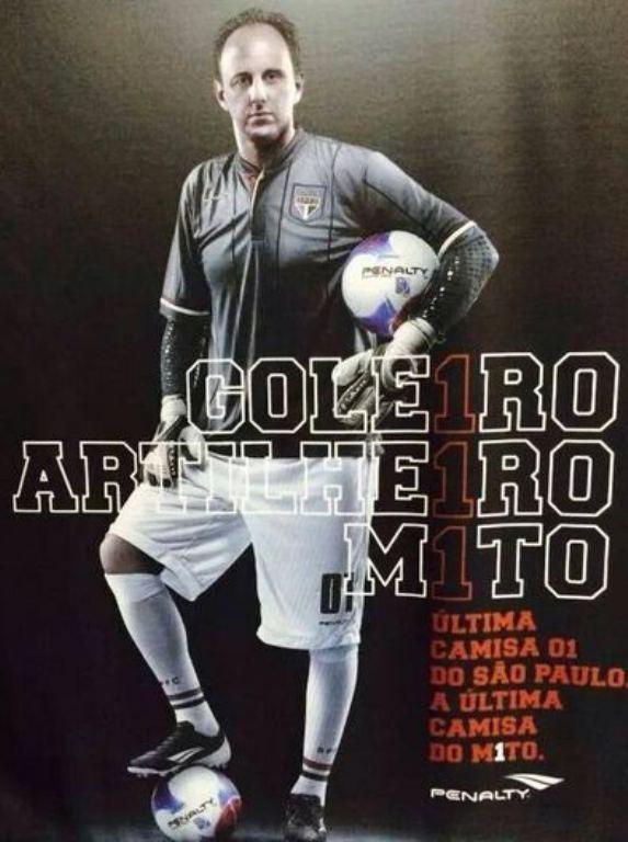 Cartaz mostra o que seria a camisa de despedida de Rogério / Reprodução/Twitter