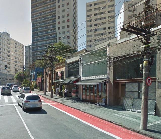 Comerciantes da Vilaboim fizeram mobilização contra a ciclovia | Google Maps