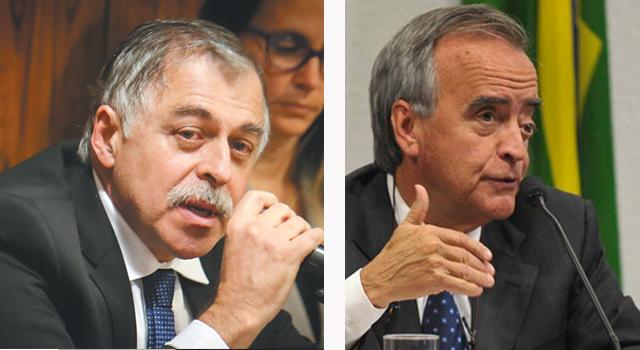Paulo Roberto Costa e Nestor Cerveró | Sérgio Lima/Folhapress e Antônio Cruz/Agência Brasil