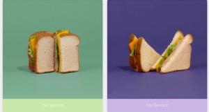 Escolha do corte do sanduíche ajuda a personalizar a tela do celular | Reprodução