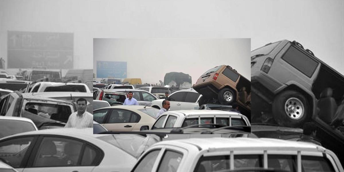 [FOTO] Accidente involucró 127 vehículos en Dubai