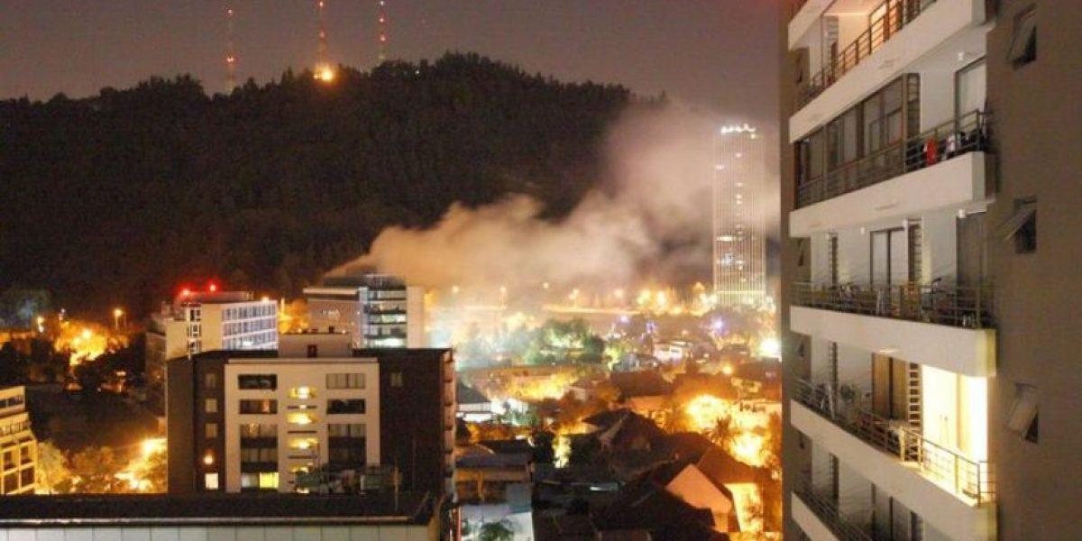 [FOTOS] Así se vio el incendio que afectó a edificio de Providencia