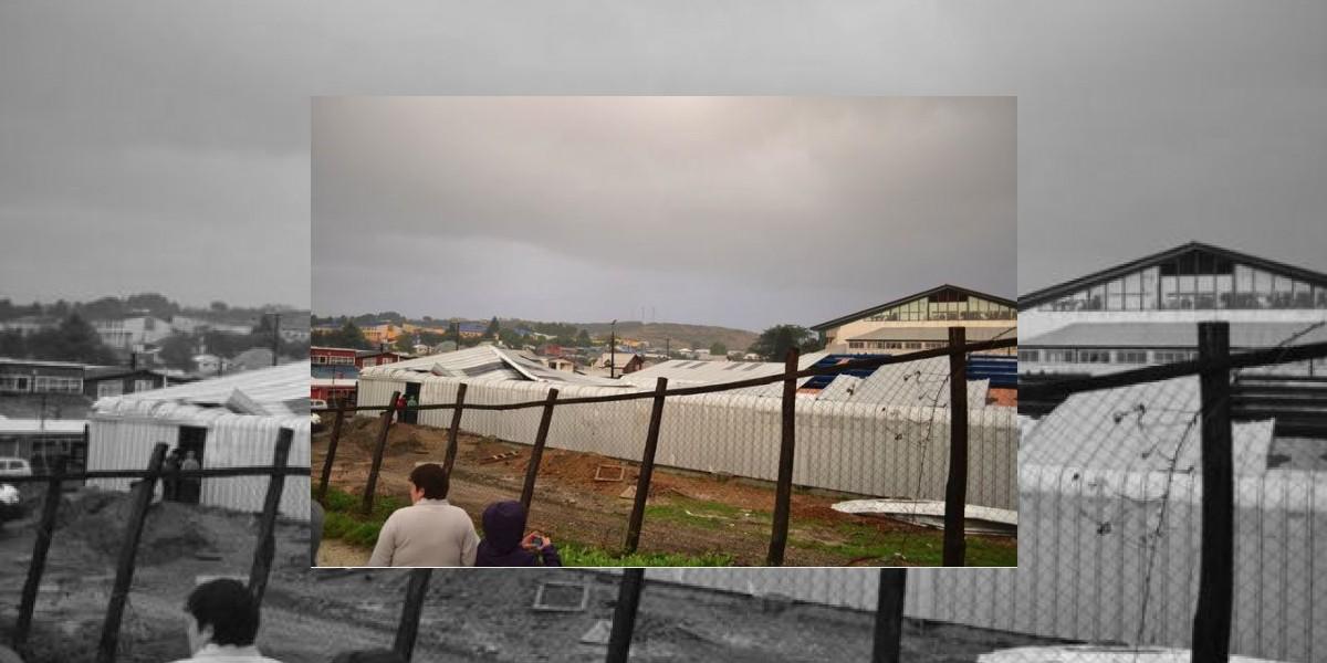 Tromba marina causa destrozos en Ancud